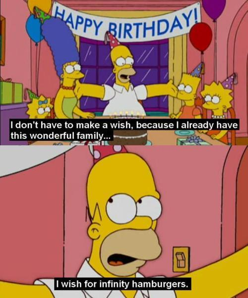birthday, cartoon, family, homer, homer simpson