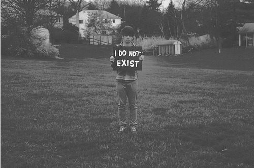 black and white, boy, exist, photography, sign