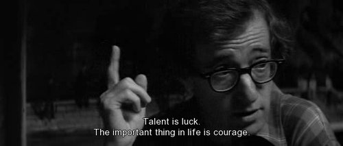 black and white, subtitles, text, woody allen