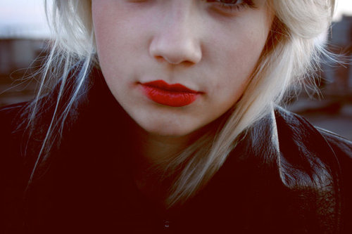 blonde, blonde girl, cute, lipstick, photography