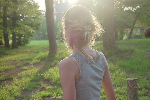 blonde, bun, cute, forest, girl, hair, messy, nature, photography, pretty, skinny, vintage