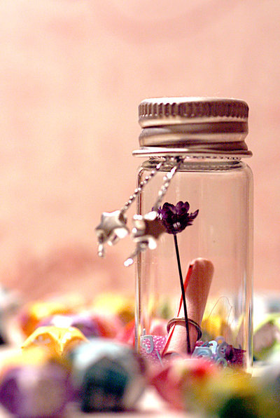 bottle, color, cute, dreams, flower, star, stars, vintage, wish