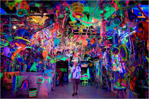 bright, colorful, rave, room