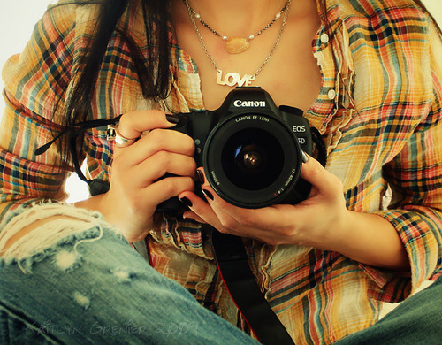 camera, canon, girl, love