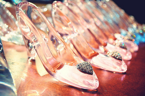 cinderella, fairytale, glass, heart, heels, love, shoes