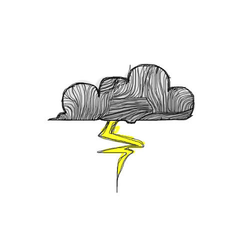 cloud, drawing, rain
