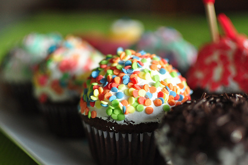 colorful, cupcakes, delicious, dessert, food