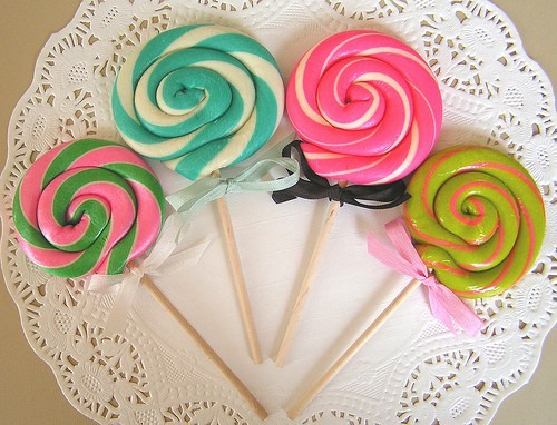 colorful, cute, girly and lollipops