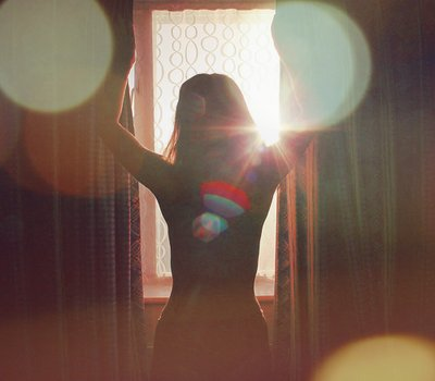 curtains, dance, girl, sun burst, sunlight, window