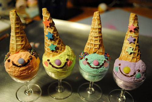 cute, eat!, food, ice cream, smile