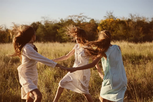 dancing, dress, fashion, field, fun, girls, hair, nature