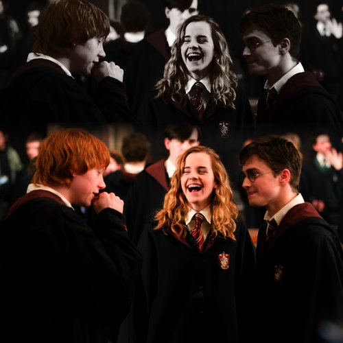 daniel radcliffe, emma watson, friends, harry potter, hermione granger