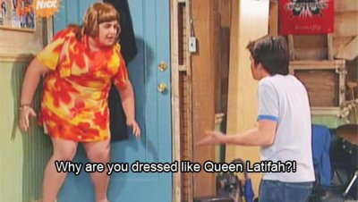 drake and josh, funny, haha, nickelodeon, queen latifah