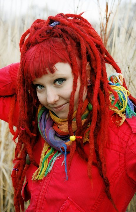 dreadlocks, dreads, red hair