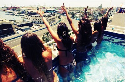 fashion, friends, girls , summer