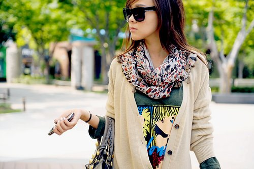 fashion, girl, scarf