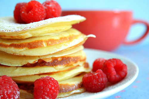 food, gosaker, pancakes, raspberry