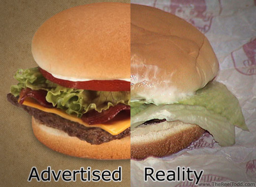 food, hamburger, it still tastes good, not the same hamburger, reality