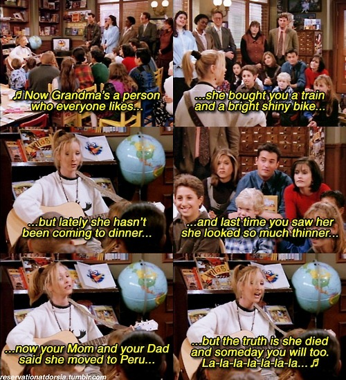 friends, funny, phoebe buffay, song