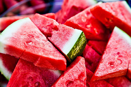 fruit, red, watermelon