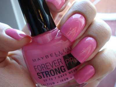 manicure, maybelline, nails, pink