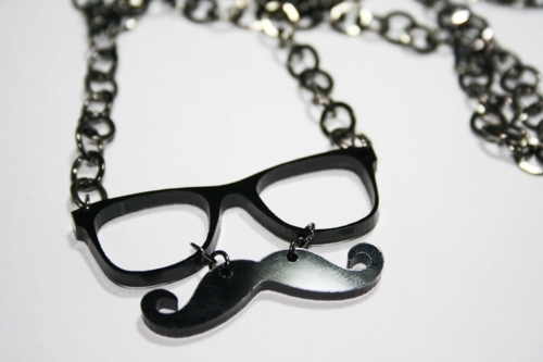 mustache, mustaches, mustage, necklace, nerd glasses, nerdfromparis