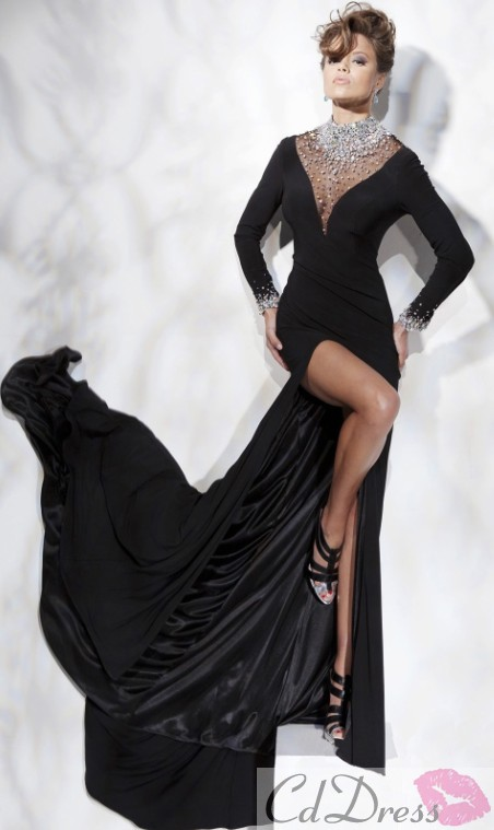 ball dress, black, black prom dress and christmas