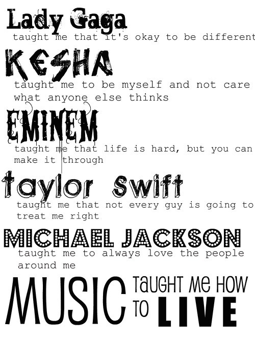Funny Quotes On Music Lovers : ... love, michael jackson, music is my life, pop, quote, rap, stars, swag