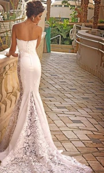 Simple Tight Wedding Dress