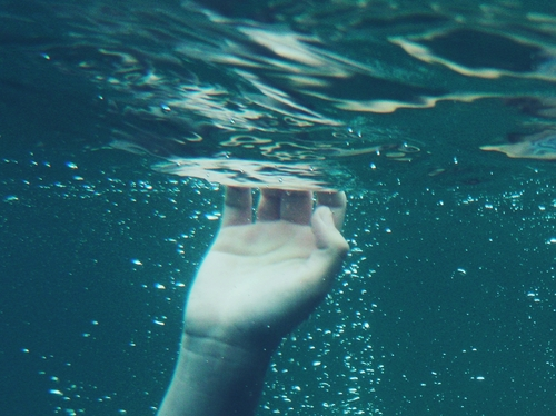 alternative, blue, hand, indie, nice, pastel, photo, photography, pic, picture, sad, under water, water, white