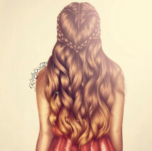 braid, drawing, fashion, girl, hair, hair style, love, style