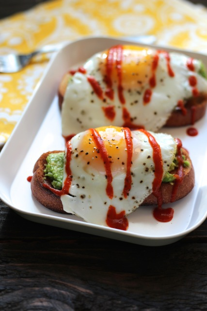 Avocado Toasts with Eggs &, Sriracha - image #2270441 by ...