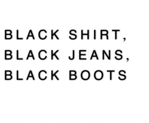 black, boots, jeans and quote