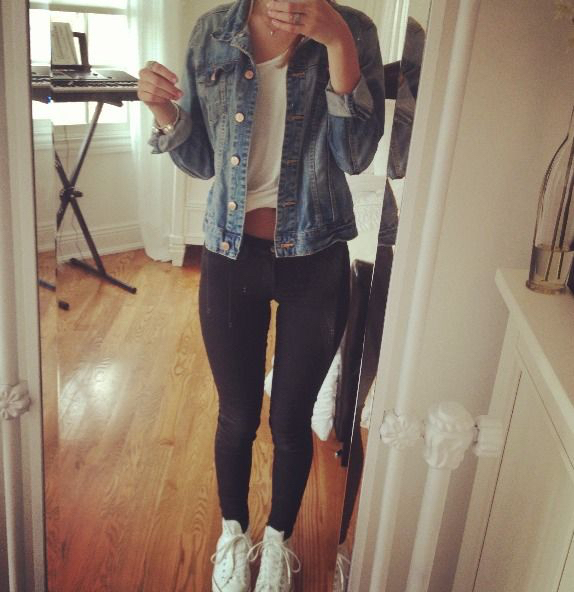 Jean Jacket Outfit Leggings