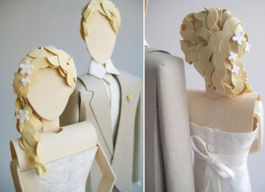 adorable, bride, cake topper, groom, wedding