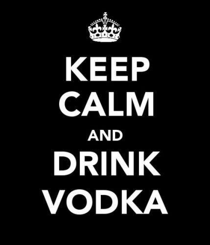 alcohol, black, drink, keep calm, message, vodka