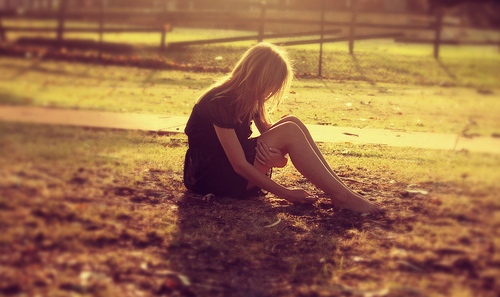 alone, blonde, countryside, forever alone, girl
