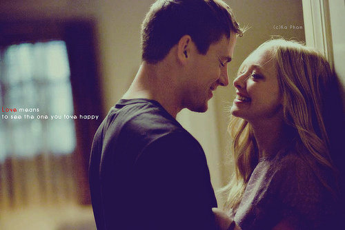 amanda seyfried, channing tatum, dear john, happy, kiss, love