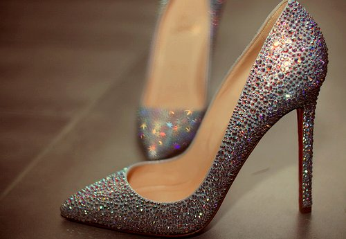 amazing, beautiful, christian louboutin, diamond, diamonds, dressy, glitter, heels, pretty, rhinestone, rhinestones, shine, shoes, sparkle