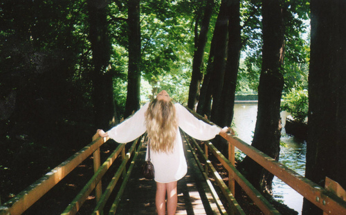 amazing, blonde, fashion, forest, girl