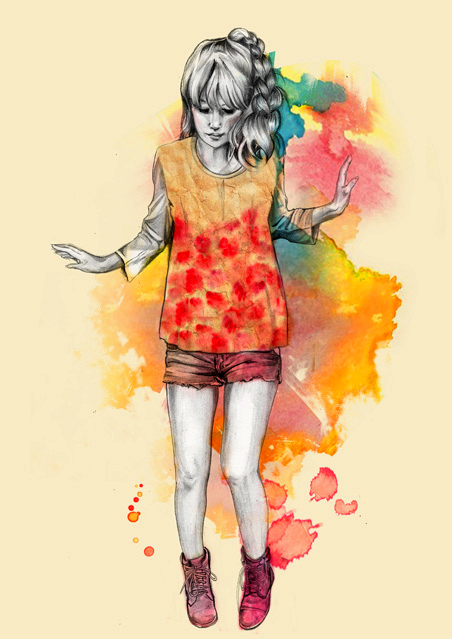 amedee, colors, illustration, watercolor