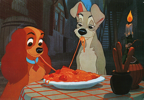 animation, art, cute, disney, dogs, lady and the tramp, love