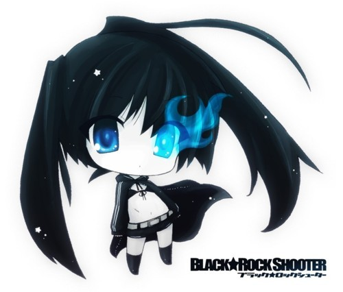 anime, black rock shooter, chibi