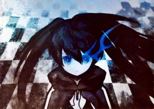 anime, black rock shooter, huke
