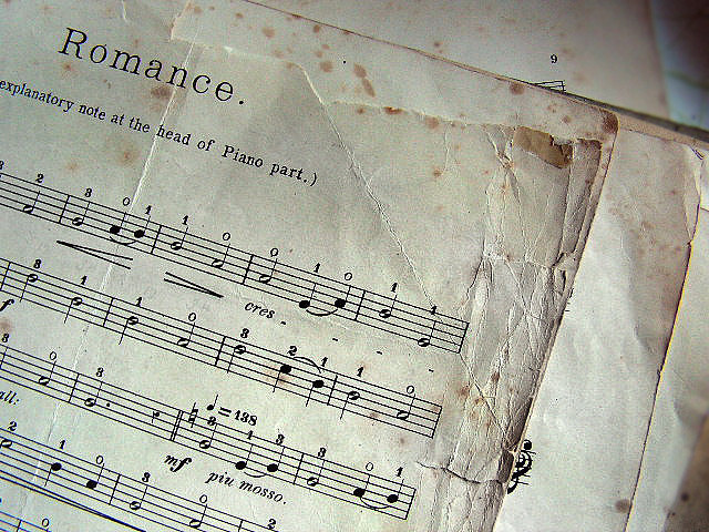antique, ephemera, music, music sheet, paper