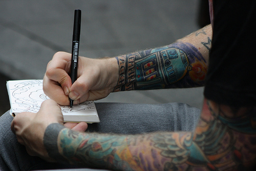artist, boy, guy, love, tattoo