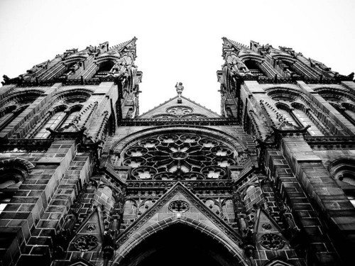 auvergne, black, cathedral, catholic, church