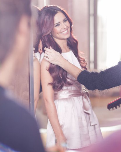 backstage, beautiful, cheryl cole, cute, girl, model, smile