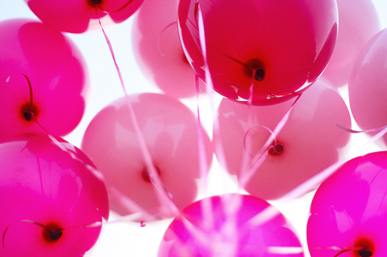 balloons, beleza, birthday, happy birthday, party, pink, red, sky