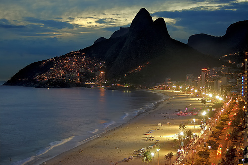 beach, brasil, brazil, city, copacabana, lights, my city, night, rio, rio de janeiro, wonderful city